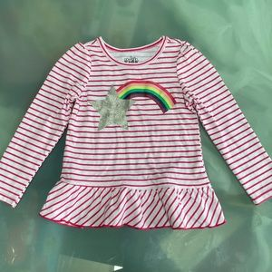 NWOT stripped long sleeved t-shirt with rainbow
